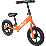 iBaseToy Kids Balance Bike, Lightweight No Pedal Kids Walking Bicycle with Carbon Steel Frame, Adjustable Handlebar and Seat for Boys and Girls, Glider Push Bike for Toddlers Ages 2 to 6 Years