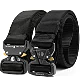 Fairwin Tactical Belt, 2 Pack 1.5 Inch Military Tactical Belts for Men - Carry Tool Belt