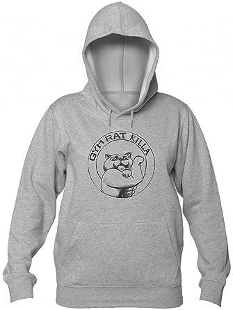 Finest Prints Gym Rat Killa Cat Sudadera con Capucha para Mujer: Amazon.es: Ropa y accesorios