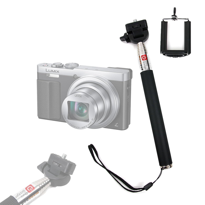 DMC-TZ57 et DMC-SZ10 num/érique DMC-FT30 Selfie Stick DURAGADGET t/élescopique avec support ajustable pour appareil photo Panasonic Lumix DMC-TZ70 Perche