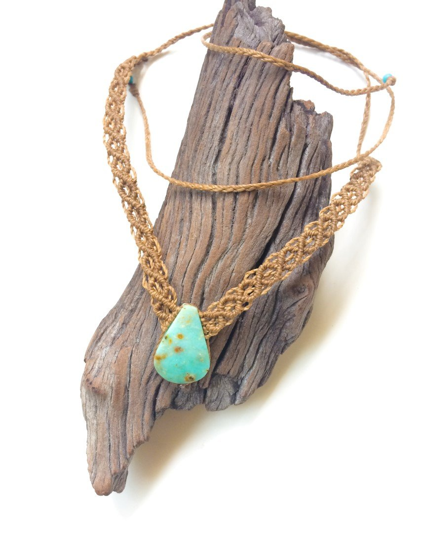 Andean Opal Macrame Necklace