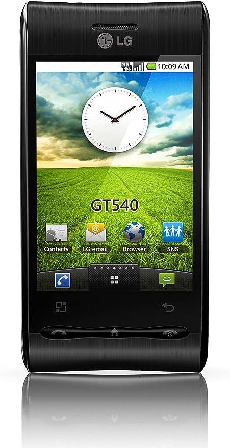 LG GT540 - Smartphone Libre Android (130 MB de Capacidad, S.O. Android 1.6) Color Negro [Importado de Alemania]: Amazon.es: Electrónica