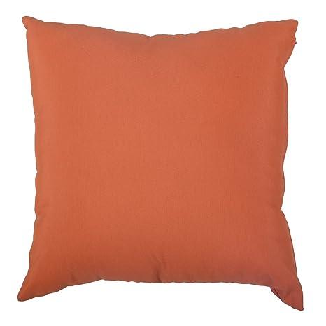 Cojin liso loneta color Naranja 45x45 cm. (Pack 2 uds.)