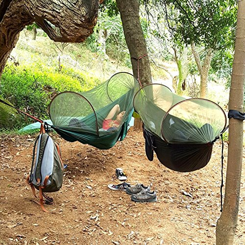 Outdoor Camping Hammock Bukm Mosquito Hammock Travel Bed Portable