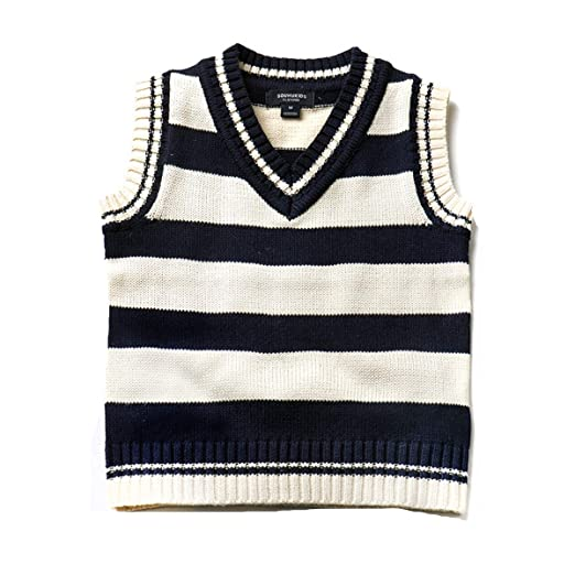 330c44b36ac0 Amazon.com  SOUHUKIDS Big Boys Knit Sweater Vest Autumn Sleeveless ...