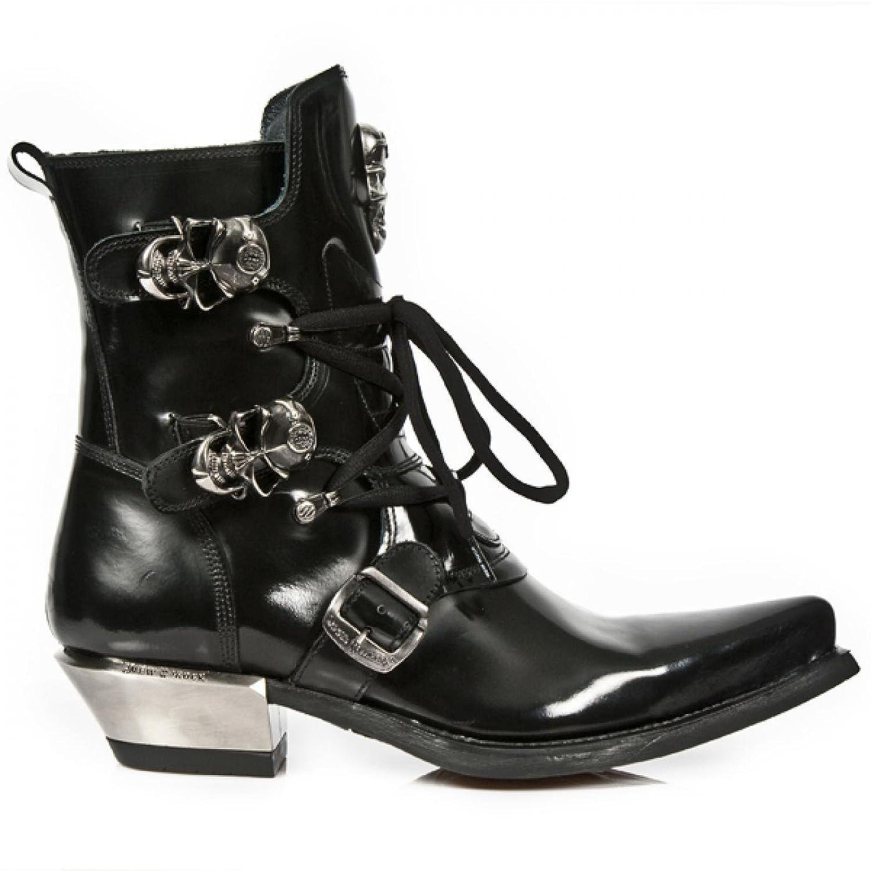 New Rock Boots M.WST001 C1 Cowboy Western Herren Stiefel Schwarz