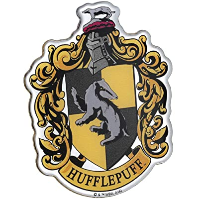 Fan Emblems Harry Potter Domed Chrome Car Decal - Hufflepuff Crest: Arts, Crafts & Sewing