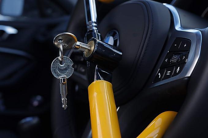 Streetwize Swdh Lenkradsperre Mit Doppelhaken Gelb Auto