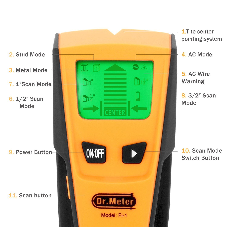 Welquic Stud Finder Electric Center-Finding Détecteur avec 1 en 3-métal AC...