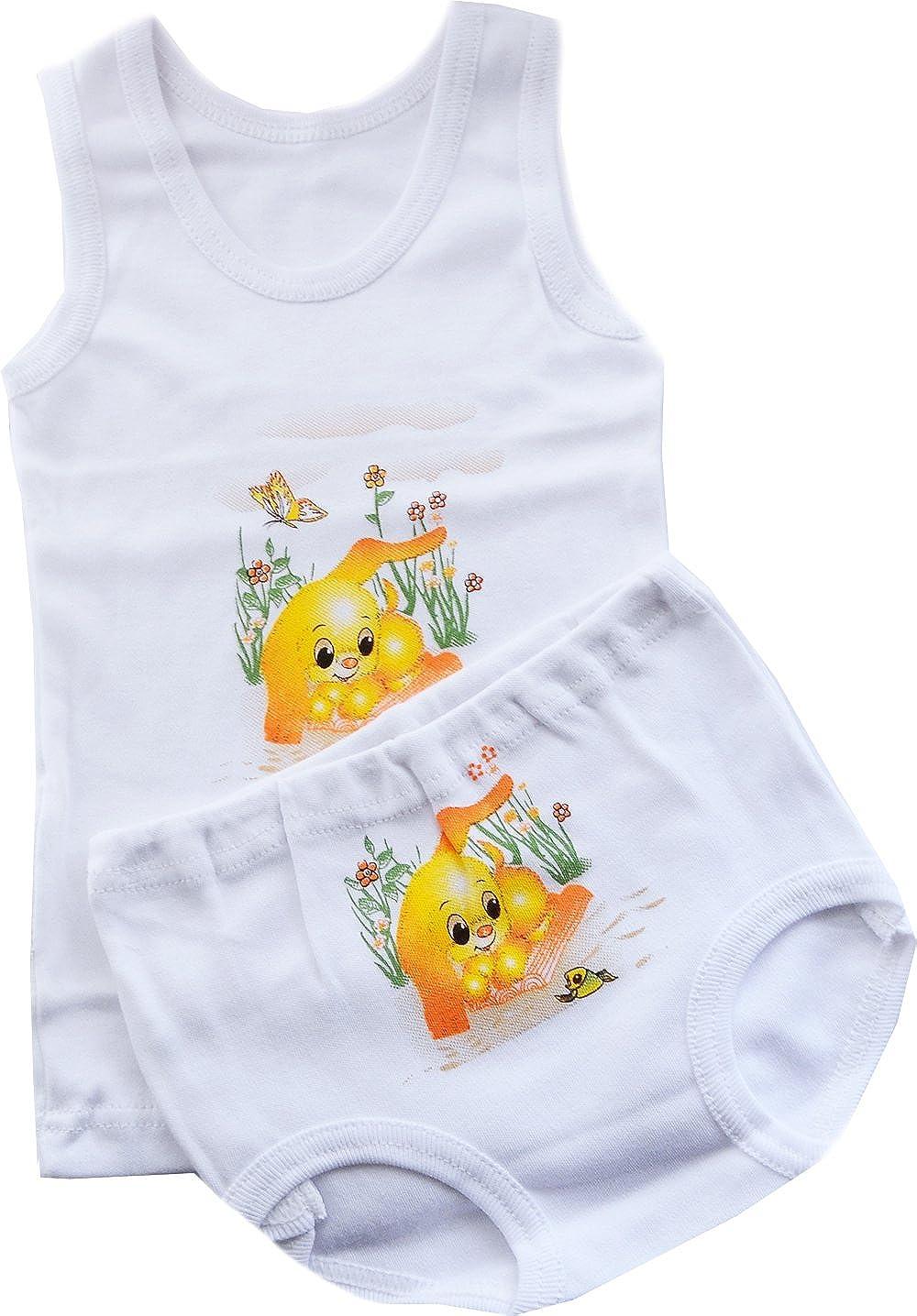 Unterwäsche Baby Kinder Unterhemd Höschen SET 74