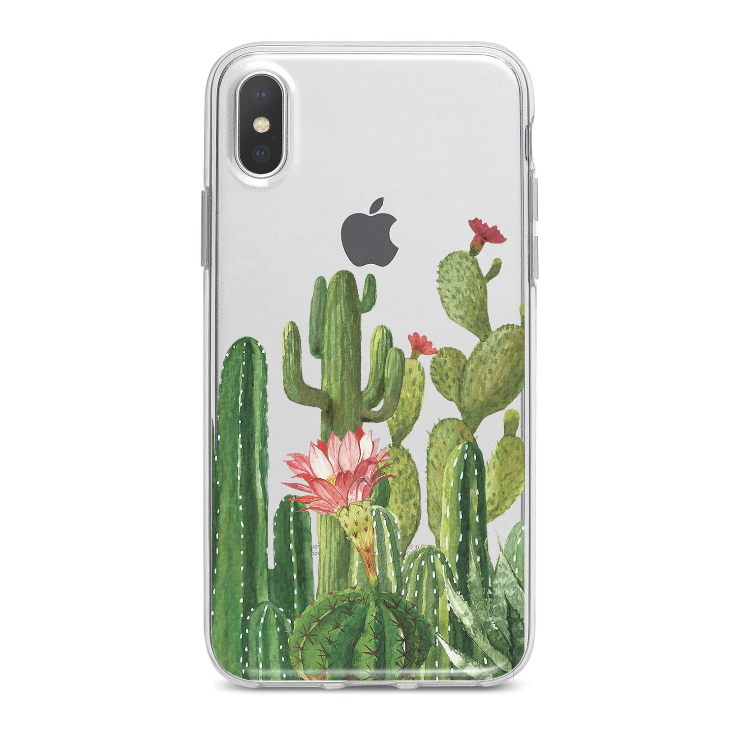 Lex Altern TPU iPhone Cases X 8 Plus 7 6s 6 SE 5s 5 Clear Cactus Apple Phone Green Cover Plants Print Floral Protective Flower Transparent Flexible Girls Teen Women Soft Silicone Lightweight Design