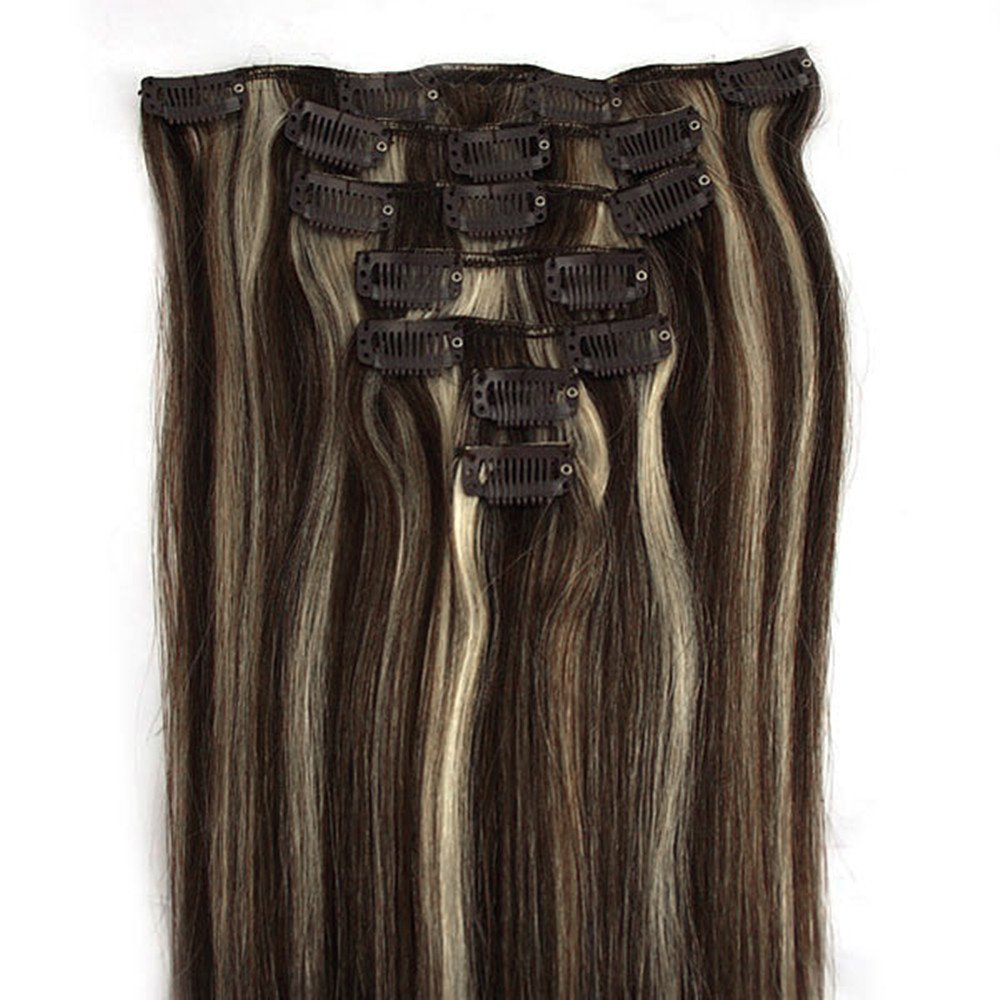 Amazon Clip In Remy Real Human Hair Extensions 20 Inch Dark