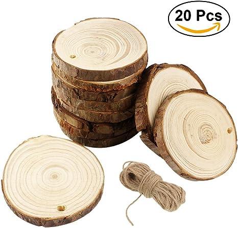 100er pack Runde Holzscheiben Holz Scheiben Verzierungen Holz Stücke für
