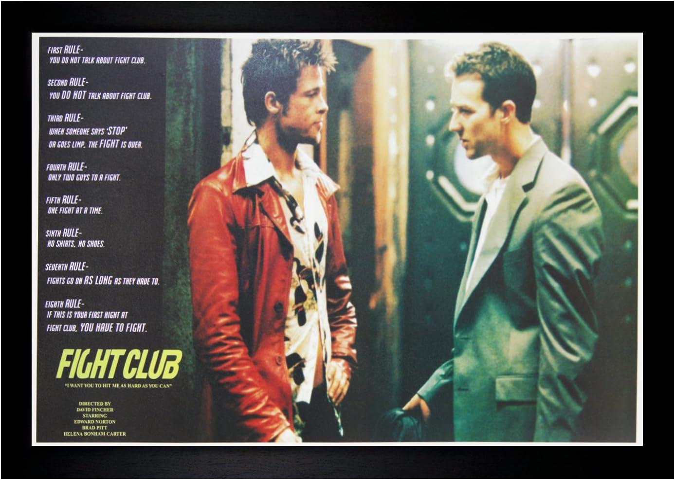 Fight Club Edward Norton Brad Pitt Movie Wall Print POSTER FR