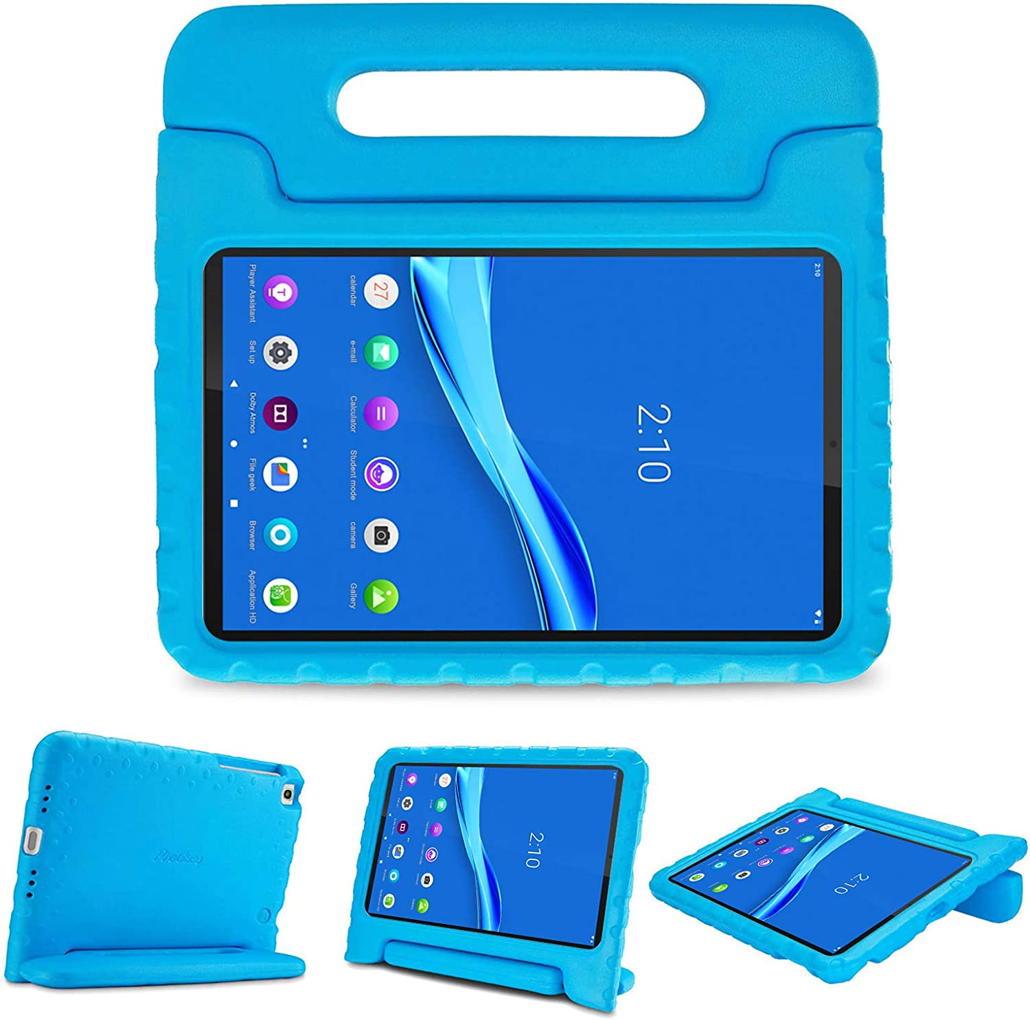 ProCase Kids Case for Lenovo Tab M10 FHD Plus 10.3 Inch (2020 2nd Gen), Shockproof Convertible Handle Stand Cover, Lightweight Kids Friendly Case for Lenovo Tab M10 Plus TB-X606F TB-X606X –Blue