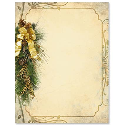 graphic regarding Printable Border referred to as Pine Perfection Printable Border Papers, 8.5 Inches x 11 Inches, 28lb Laser and Inkjet Suitable Paper, 100 Rely