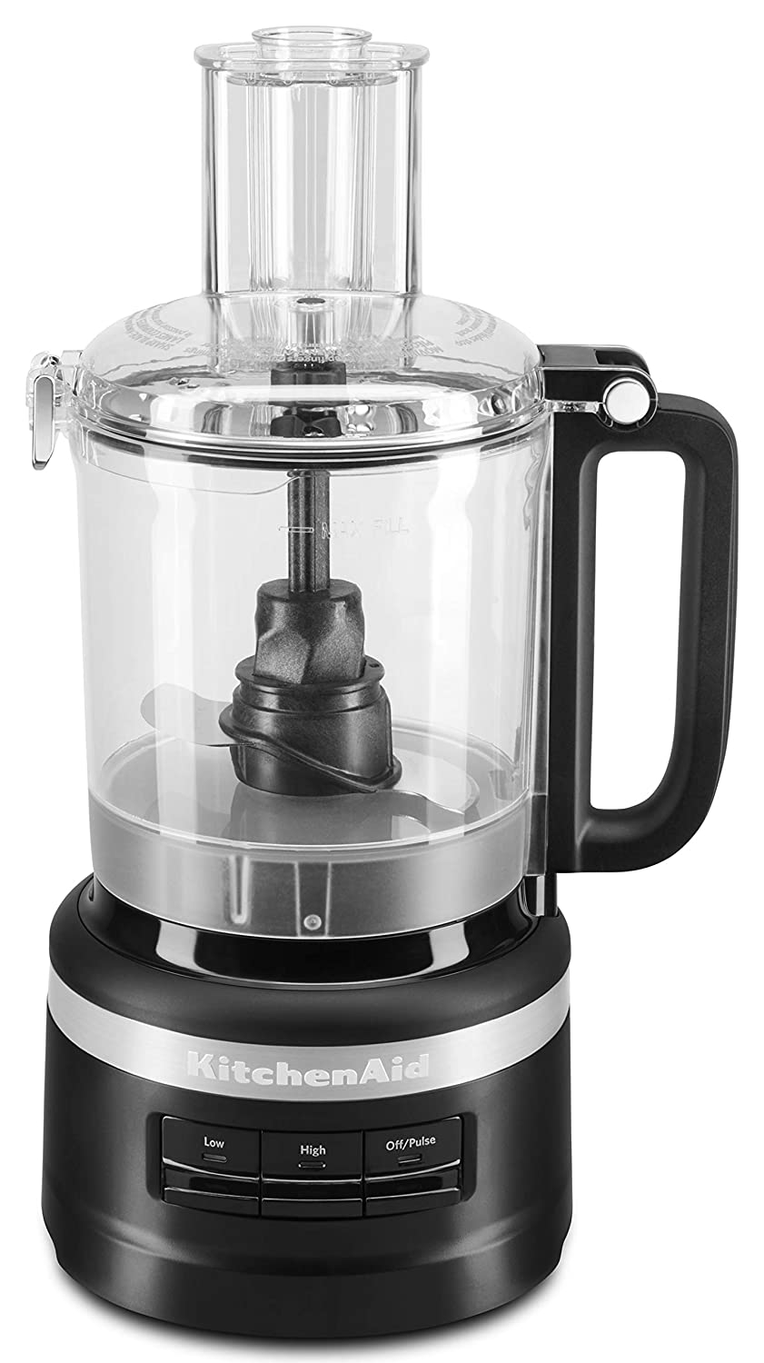 KitchenAid KFP0918BM Easy Store Food Processor, 9 Cup, Black Matte