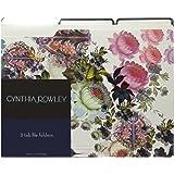 Cynthia Rowley File Folders, 3 Tab, 6 Folders per package, Flowers Assorted Patterns