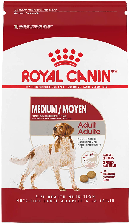 Royal Canin Medium Breed Adult Dry Dog Food, 17 lb. bag