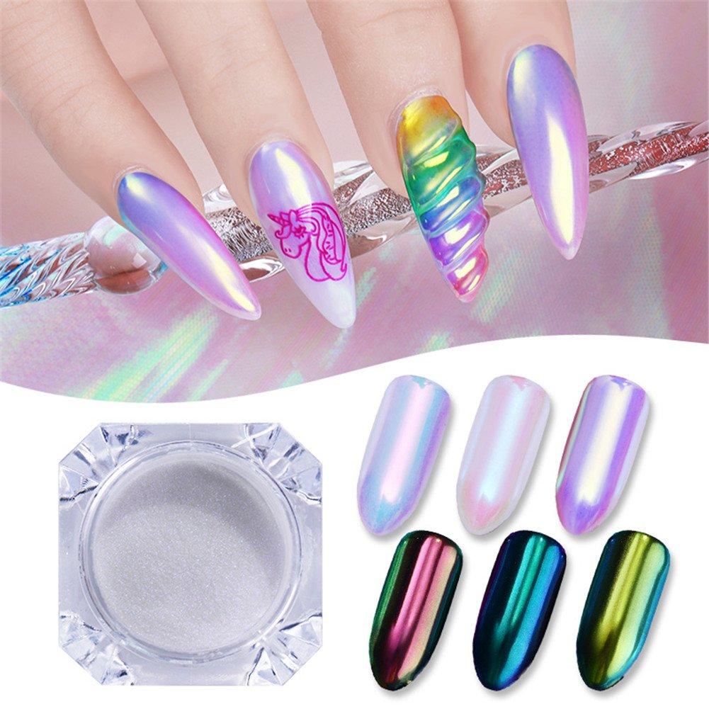 Born Pretty 1Box 0.5g Nail Art Aurora Neon Animal Powder Chameleon Mermaid Mirror Glitter Manicure Pigment Dust #3