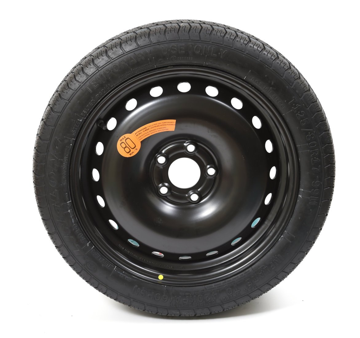 VW Fox 2005 Onwards Steel Space Saver Wheel & Tyre Kit
