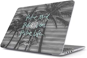 "Glitbit Hard Case Cover Compatible with MacBook Air 11 Inch Case, Model: A1370 / A1465 11-11.6 Inch 11"" Postive Mind Positive Life Love Life Good Vibes Only Palm Trees Inspirational Postivity"