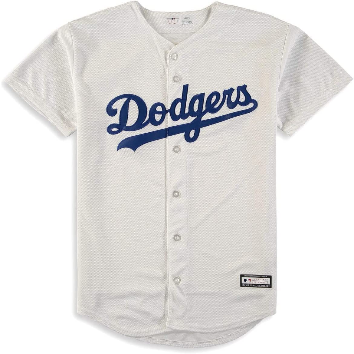 OuterStuff Los Angeles Dodgers Youth Team Home White Jersey