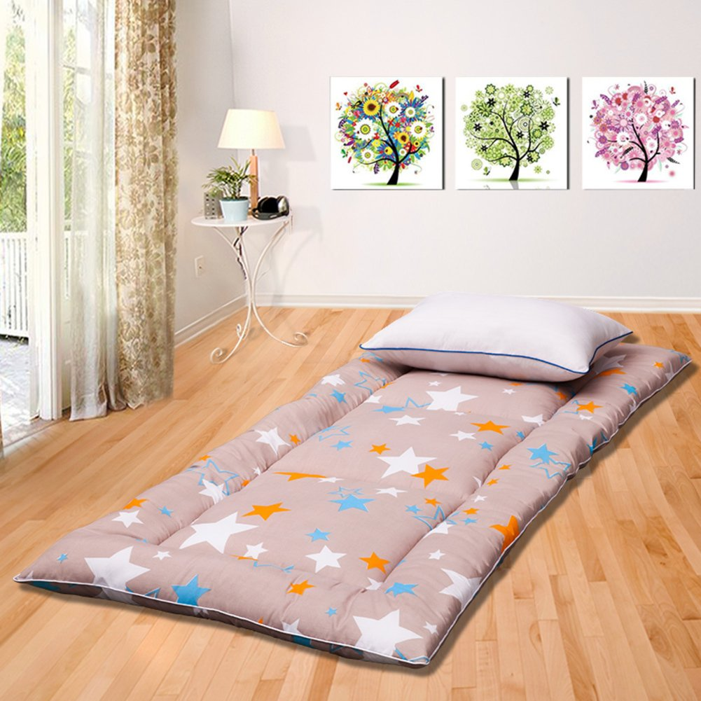 DHWJ Student Dormitory Bed Mattress mat,Padded mat,Collapsible Tatami Mattress-A 90x195cm(35x77inch)