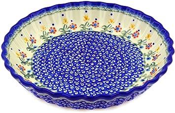 Polish Pottery Fluted Pie Dish  sc 1 st  Amazon.com & Amazon.com: Polish Pottery Fluted Pie Dish: Kitchen u0026 Dining
