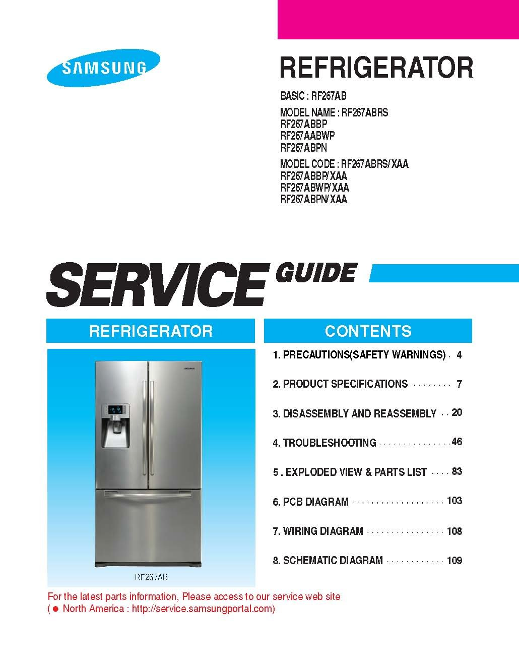 71QnUWFjuqL samsung rf267abrs xac and many more models service manual samsung Samsung RF267 Ice Maker Problems at reclaimingppi.co