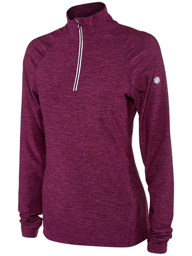 ASICS Womens Thermopolis 1/2 zip ASICS Sports Apparel WR3390-P