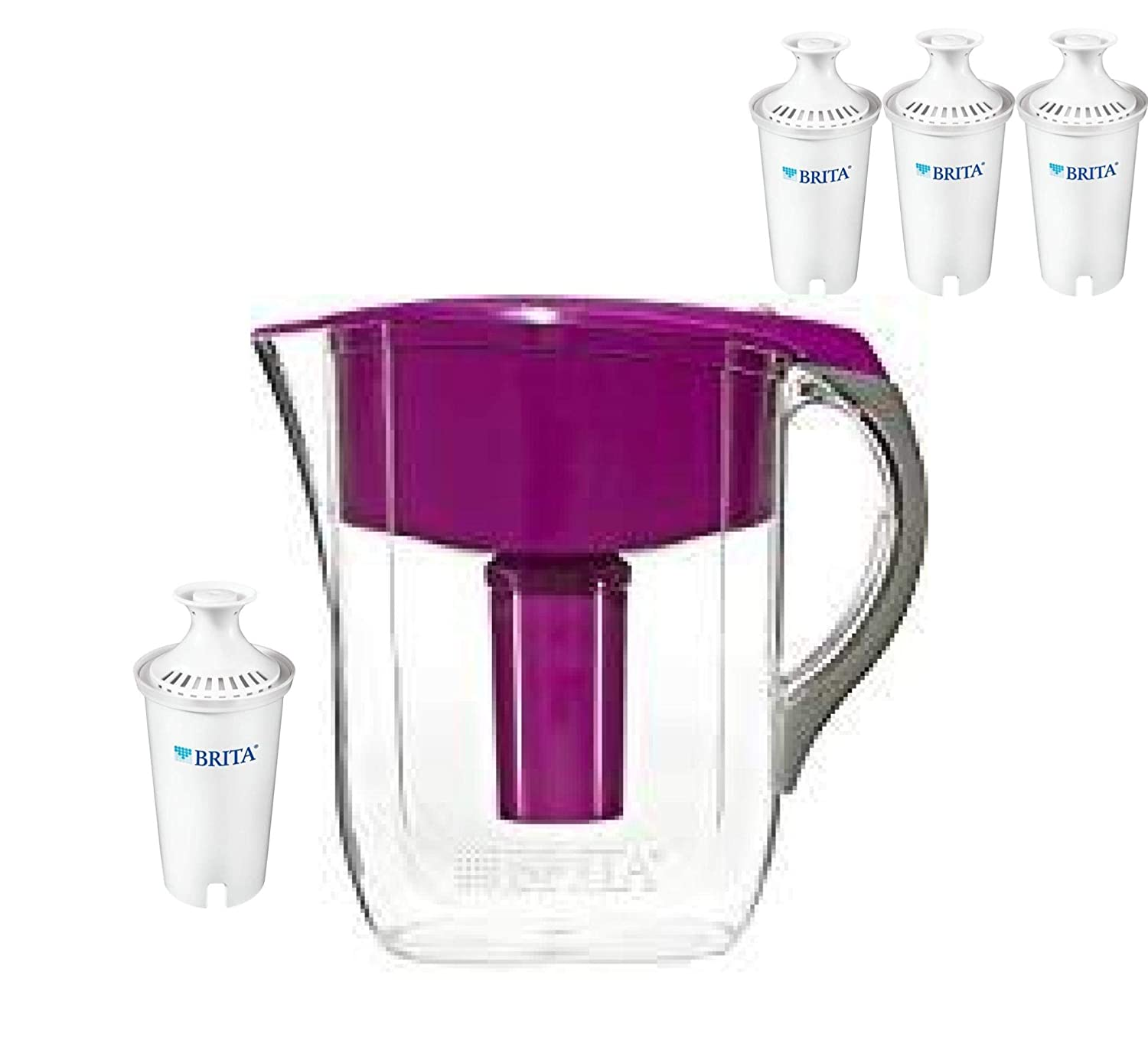 Brita Large 10 Cup Grand Water Pitcher (Pitcher with 4 Filters) Joey'z67