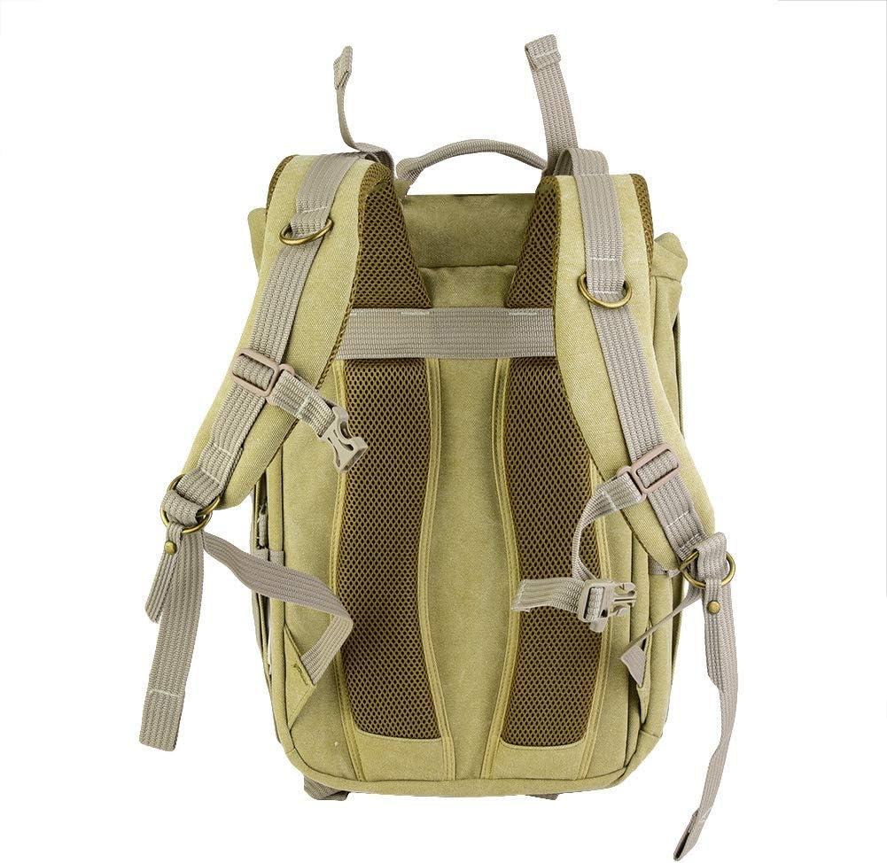 Bronze Vintage Professional Photography Backpack Waterproof DSLR Canvas Bag