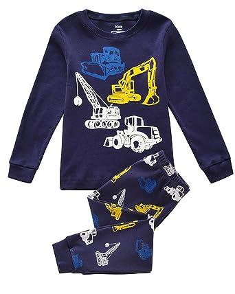 d60b6e7cb Tkiames Boys Pyjamas for Boys Truck Dinosaur Kid Pjs Toddler Clothes ...