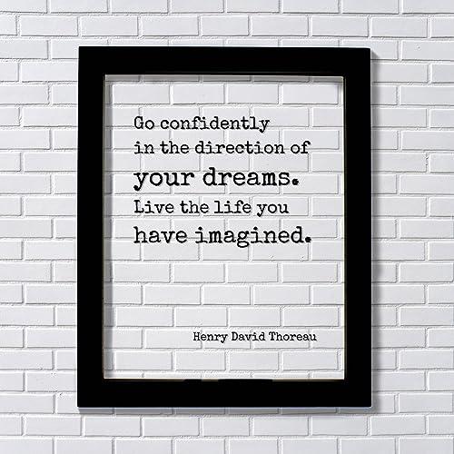 Amazoncom Henry David Thoreau Floating Quote Go Confidently In