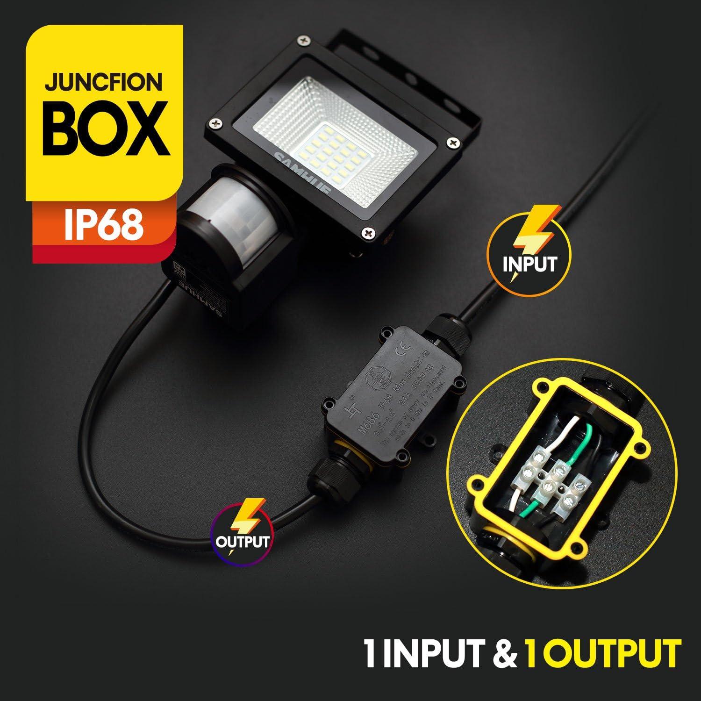 Bo/îte de Jonction de Plein Air IP68 Imperm/éable Connecteur de C/âble /électrique Bo/îtier de Raccordement 3 Voies Connecteurs Bo/îte pour C/âble /Ø 4 /à 14mm