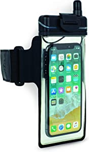H2O Audio Universal Waterproof Smartphone Case Armband Amphibx for iPhone Xs, XS Max, X, XR, 8, 8 Plus Floatable Pouch Bag
