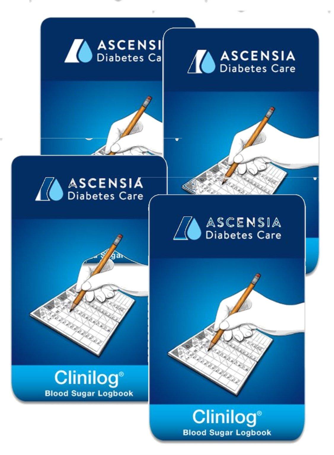 Bayer Ascensia CliniLog Self Testing Record Book, 4 Books