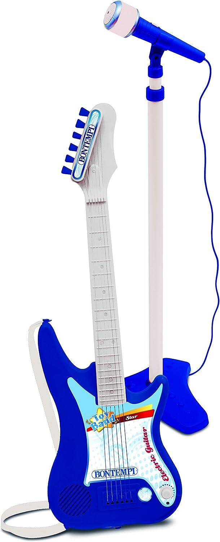 Bontempi 24 7640 Chitarra elettrica con amplificatore e microfono