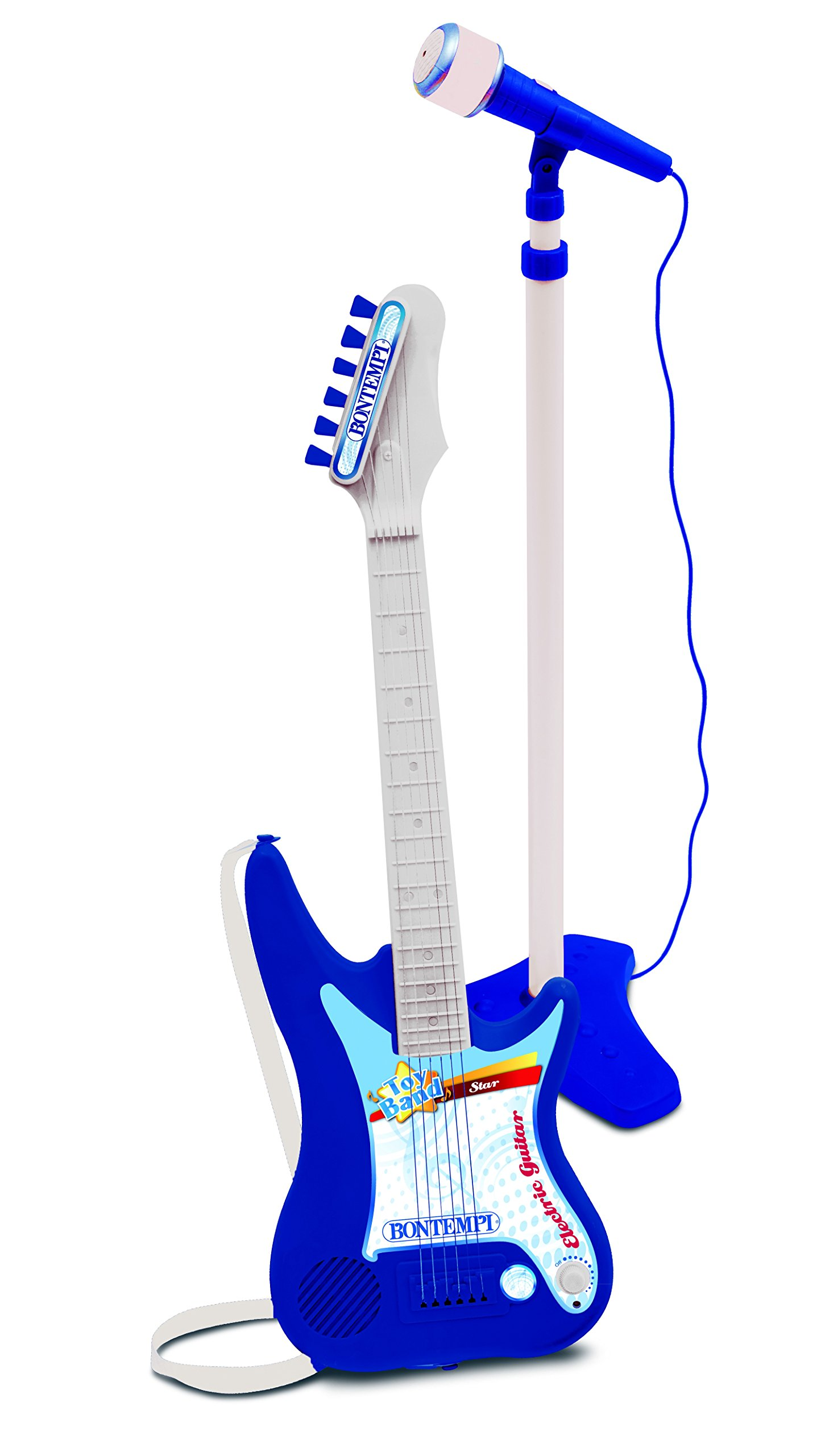 Bontempi 24 7540 Electric Guitar With Amplifier And Stage Microphone Mic