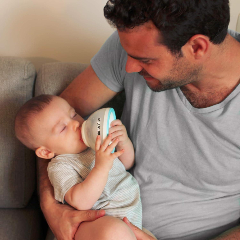 Grey Innovative Multi Use Award Winning Baby Bottle 8oz 1pk Instinctual Experience Mimicking Breastfeeding nanobebe Transition Baby Bottle to Avoid Nipple Confusion