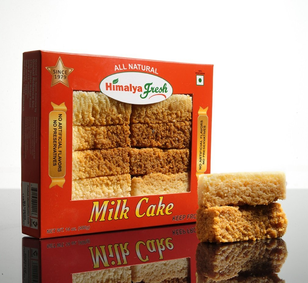 HIMALYA FRESH Milk Cake 14 oz - Premium Authentic, Luxurious Sweet Made With Pure Grass fed water Buffalo Milk and sugar (just two ingredients) - No Fillers Or Preservatives (1 Box) by Himalya Fresh