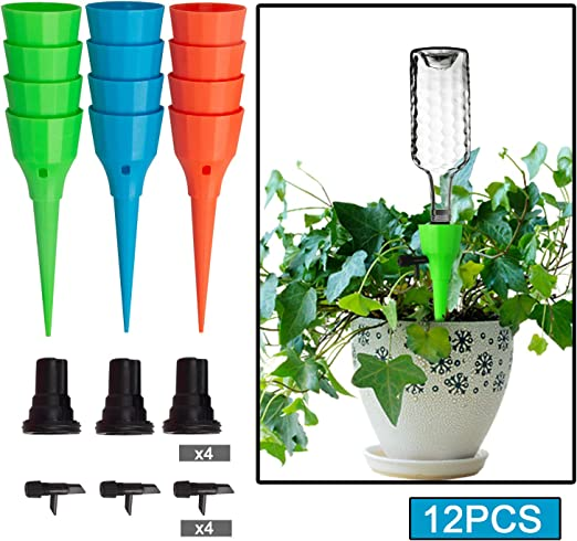 Lurowo 2019 - Juego de 12 estacas de riego para plantas, con ...