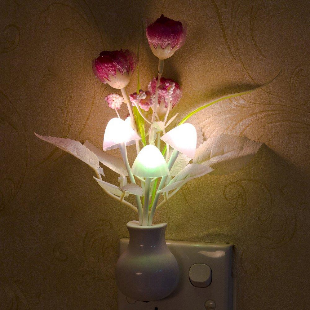 Gilroy Tulip Flower LED Night Light Soft Romantic Sensor Lamp for Home Decor by Gilroy (Image #2)