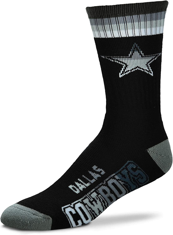 Dallas Cowboys Platinum Deuce Black Socks