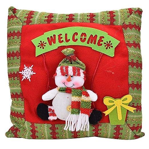 TOOGOO Decoraciones De Navidad Funda De Almohada para ...