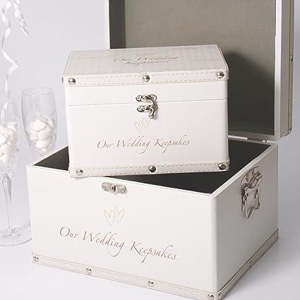Luggage Series Set Of 2 Boxes Our Wedding Keepsake Box Amazon