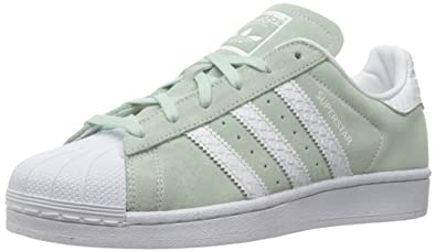 adidas Originals Women's Superstar W Fashion Sneaker, Ice Mint F16/White/White,