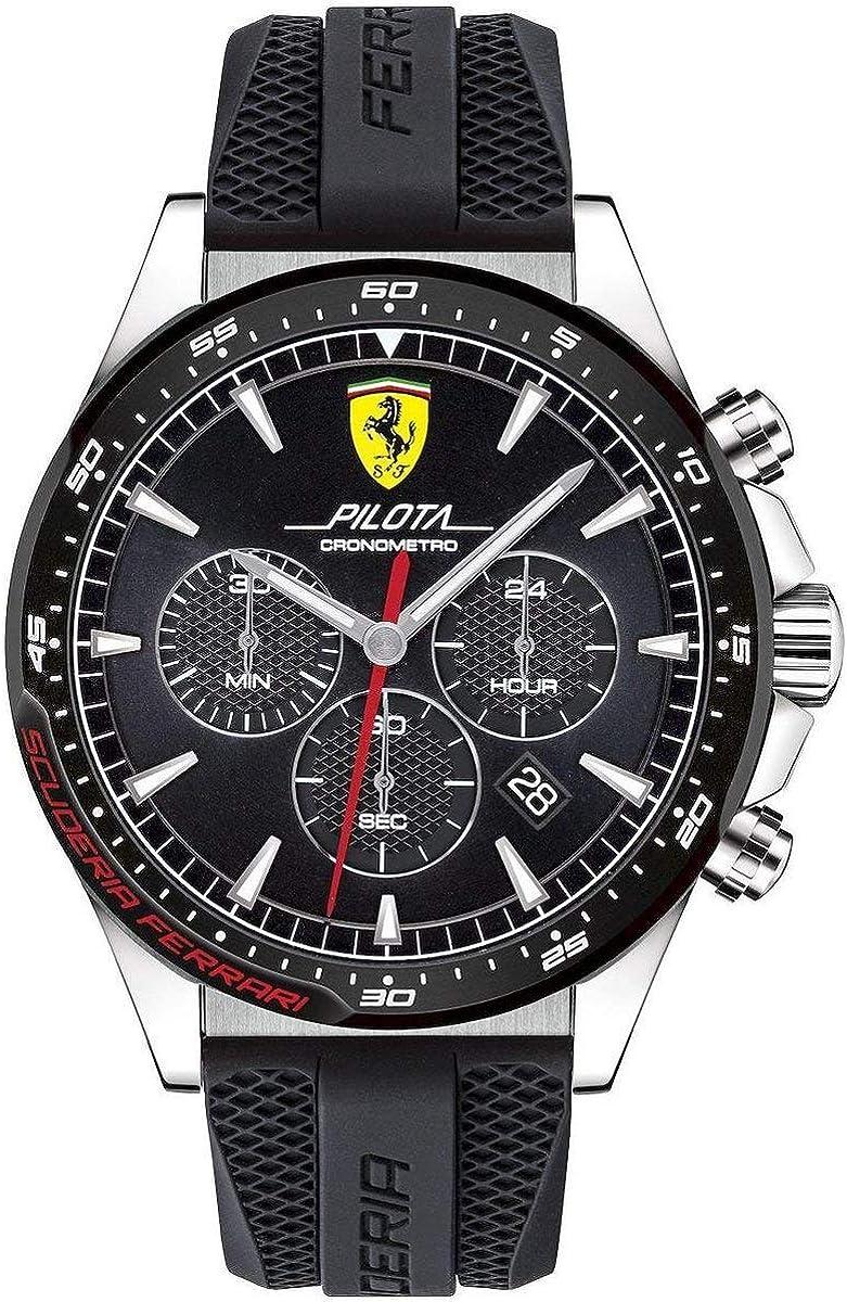 Scuderia Ferrari Reloj Cronógrafo para Hombre de Cuarzo con Correa en Silicona 830620
