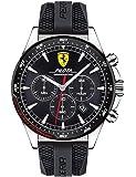 Ferrari Unisex-Adult Quartz Watch, Chronograph Display and Silicone Strap 830620